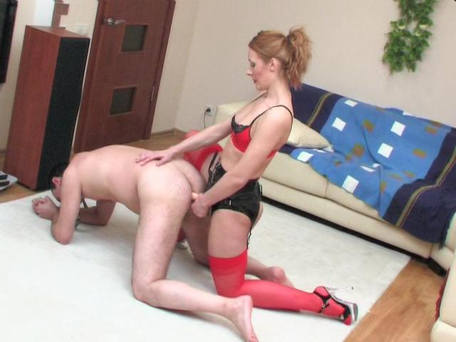 Millie & Monty strapon domination movie
