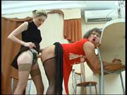 Ninette&Adrian strapon sissysex movie
