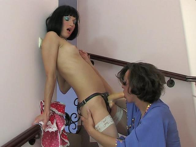 Emilia & Gilbert strapon pussyclothed sex video