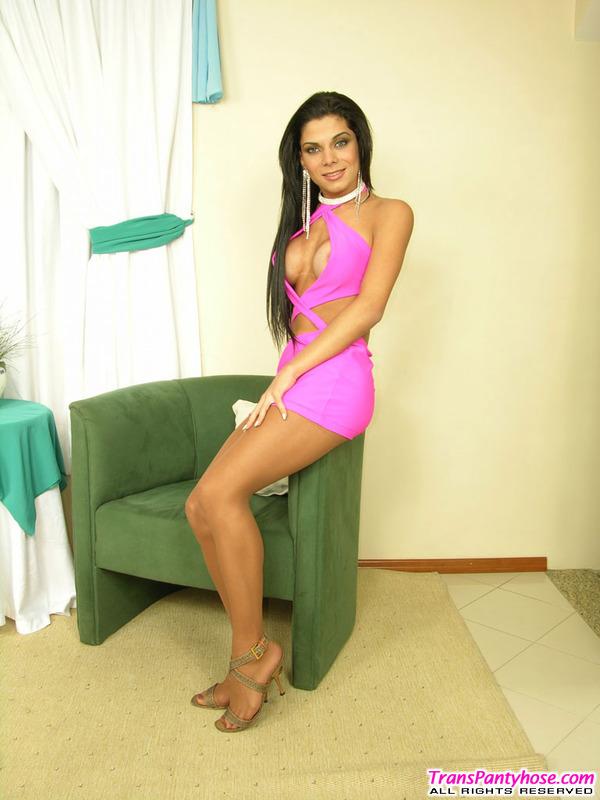 Sasha Hot Pantyhose Shemale 17