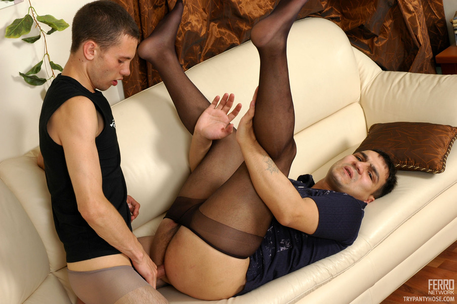 trying pantyhose sex with him