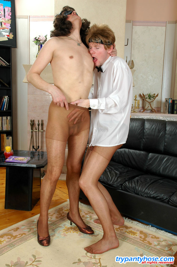 Was specially Men tran pantyhose