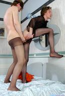 Dick in Pantyhose